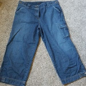 Women's denim capris size 12 by New York and Co.